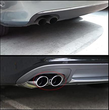 Ponteira Pequena Universal Esportiva para Escapamento Descarga do Carro Automóvel Diâmetro Entrada 5cm A1X