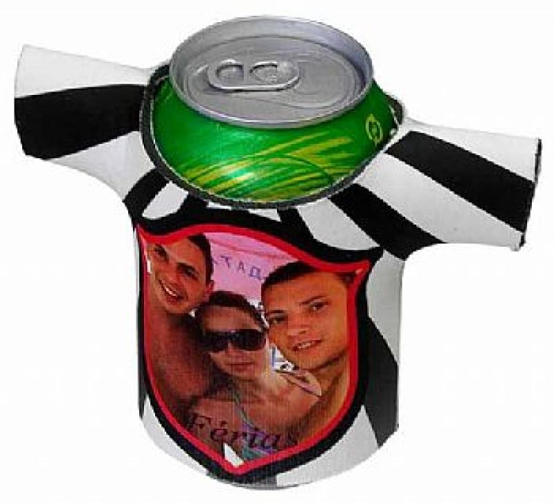 Porta Lata Camisa 350ml em neoprene Personalizado