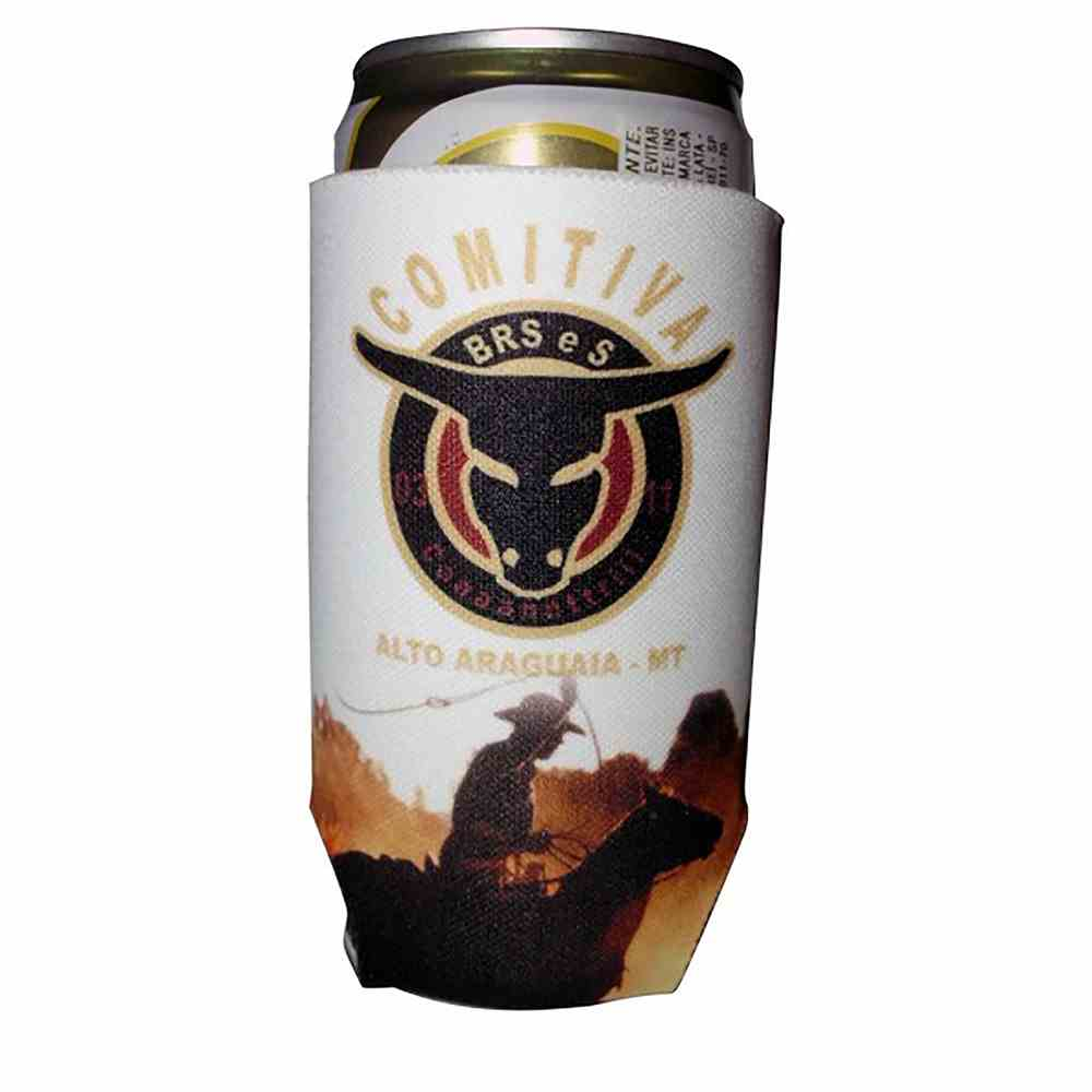 Porta lata Latinha Cerveja em Neoprene 269ml branco para Sublimação