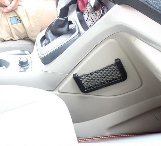 Porta Objetos Rede Bolsa de Transporte com Adesivos para Carro