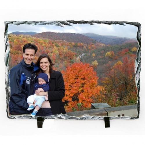 Porta Retrato de Pedra Retangular 14x24cm Personalizada