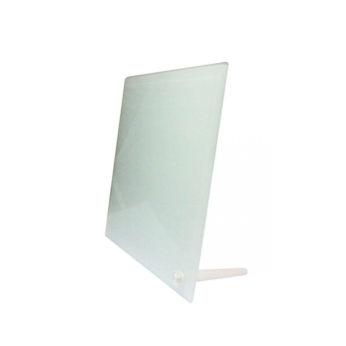 Porta Retrato Vidro Fosco 20x20cm Bordas Chanfradas Personalizado com Suporte