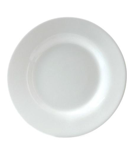 Prato de Vidro Branco 19cm Personalizado