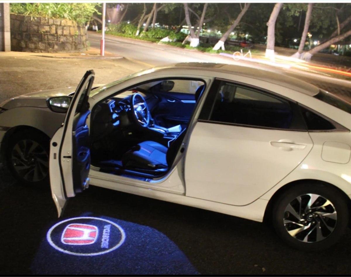 Projetor de Porta Automotiva Logo de Varias Marcas de Carro Luz Led