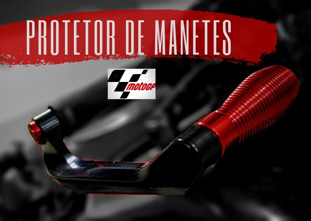 Protetor de Manetes Modelo Racing Moto Gp Universal em Alumínio Estilo Rizoma