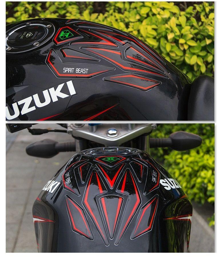Protetor de Tanque Tank Pad Resinado 3D Reflexivo para Motos Honda Yamaha Dafra