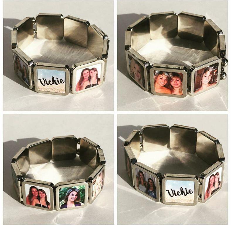 Pulseira Bracelete Elegance Personalizada com foto ou logo