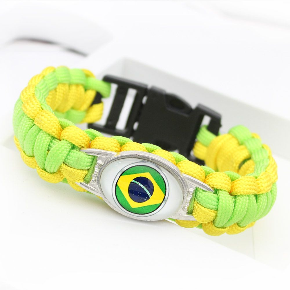 Pulseira Bracelete Torcida Bandeira do Brasil Copa 2018