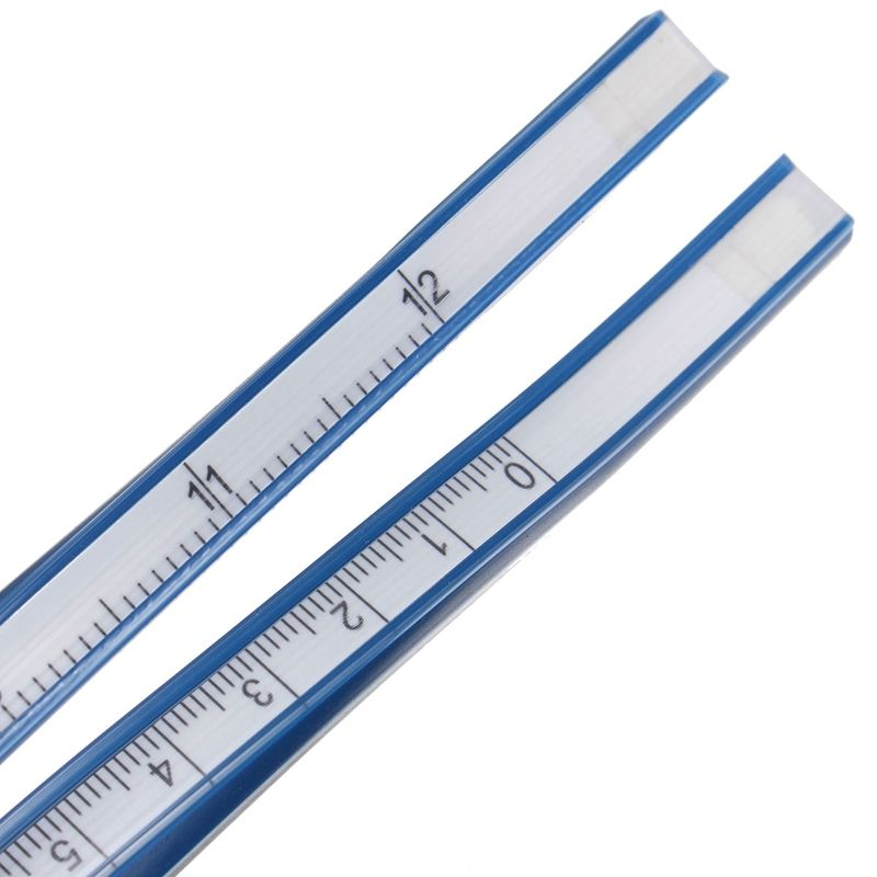 Régua de Vinil Flexível 30 CM Medir Objetos Superfícies curvas