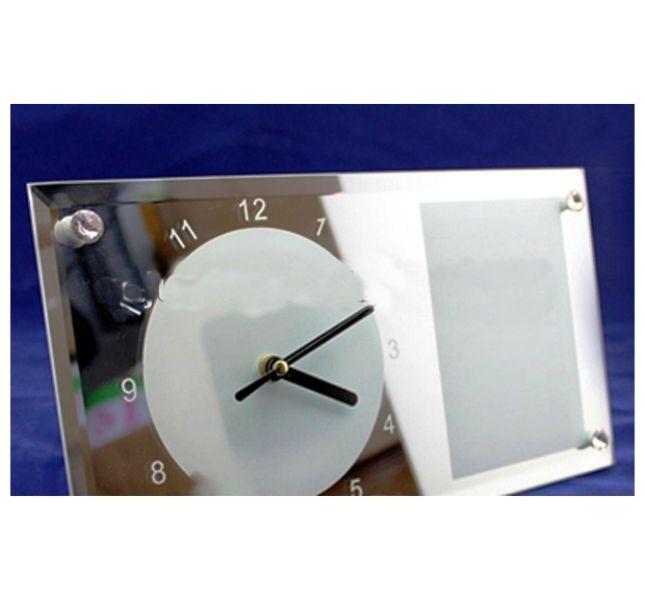 Relógio de Parede de Vidro Branco 30x16cm Personalizado