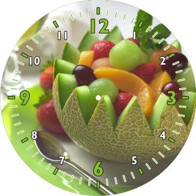 Relógio de Parede de Vidro Redondo 18cm Personalizado