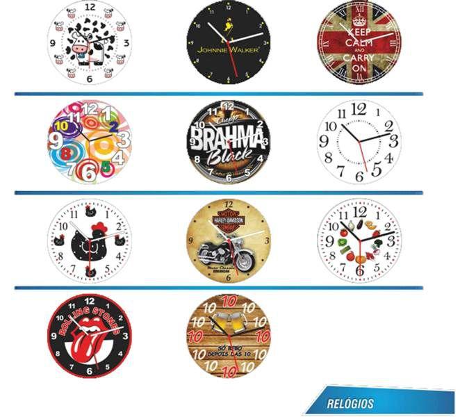 Relógio de Parede Formato Redondo 20cm Acrílico Personalizado