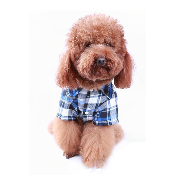 Roupa Blusa Social para Pet Cão de Estimação Cachorro Xadrez
