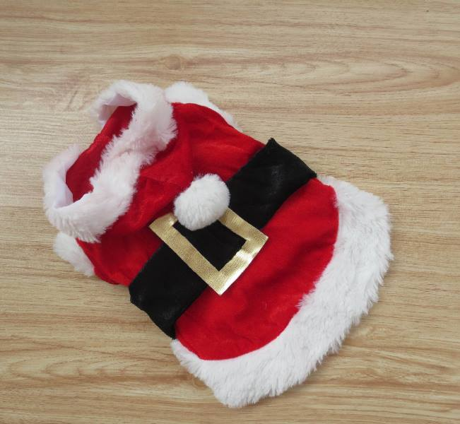 Roupa de Natal Traje de Papai Noel para seu PET gato ou cachorro