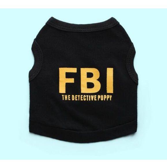 Roupa do pet cachorro gato cães gatos camiseta Agente FBI