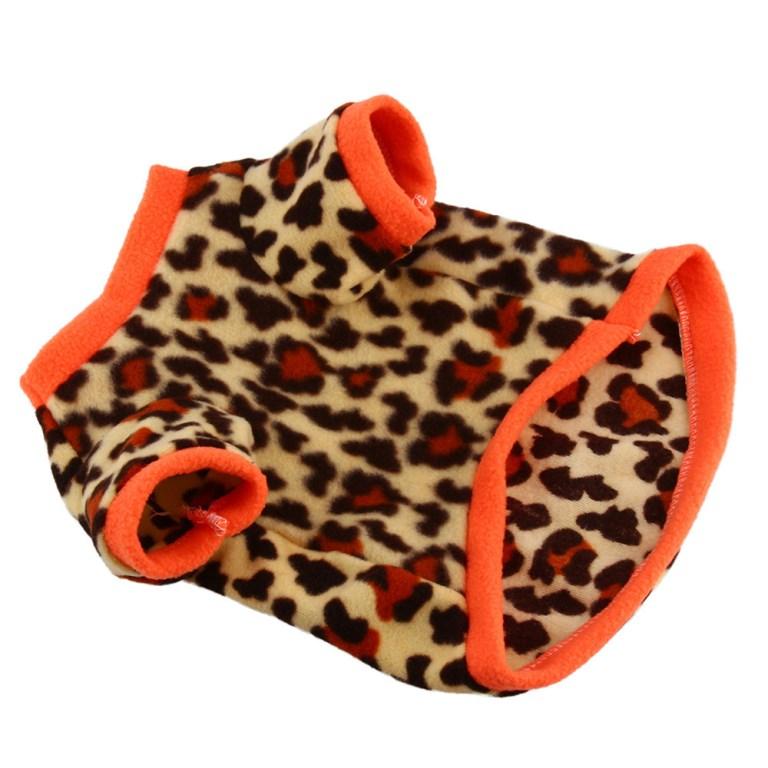 Roupa para Animal de Estimação Pequeno Cão Cachorro de Lã Macia Onça Pintada Leopardo
