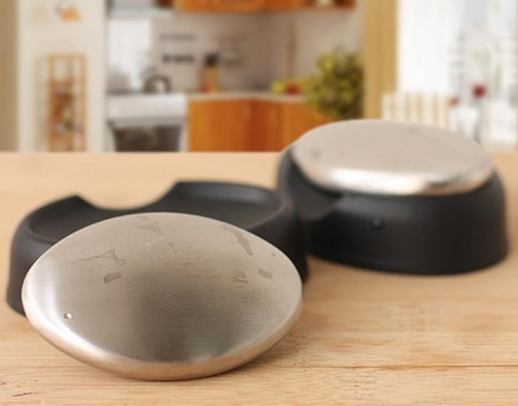 Sabonete em Inox Elimina Cheiros e Odores da Cozinha Alho Cebola Peixe
