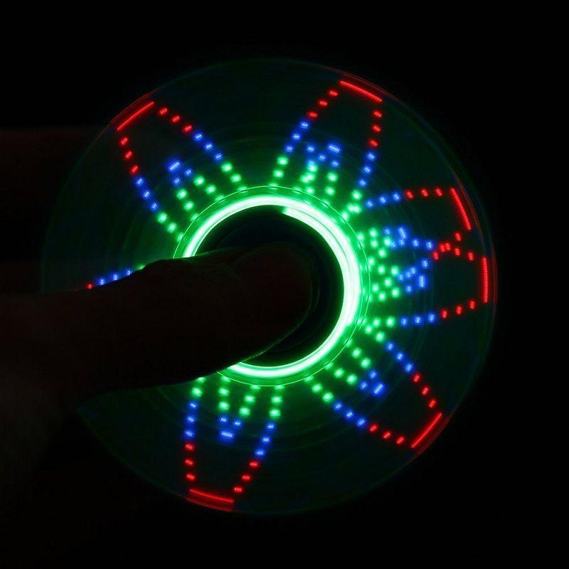 Spinner Batman Dourado Luz LED Vários desenhos luminosos