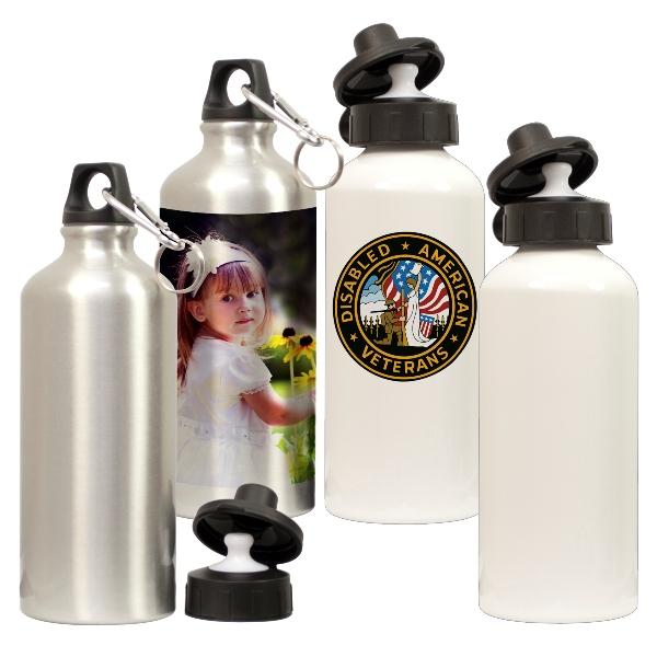 Squeeze Cantil de Alumínio Branco/Prata 500ml Personalizado