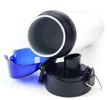 Squeeze de Alúminio Branco Tampa Roxa 750ml Personalizado