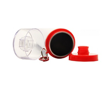 Squeeze de Alúminio Branco Tampa Vermelha 750ml Personalizado