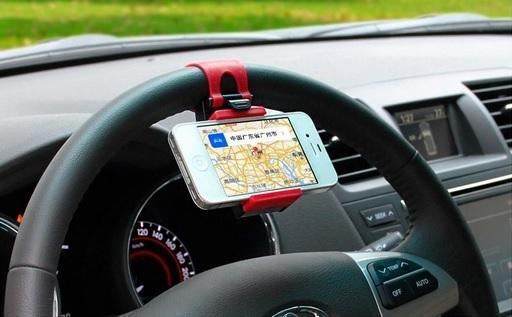 Suporte para Celular GPS para volante de carro de plásco com borracha