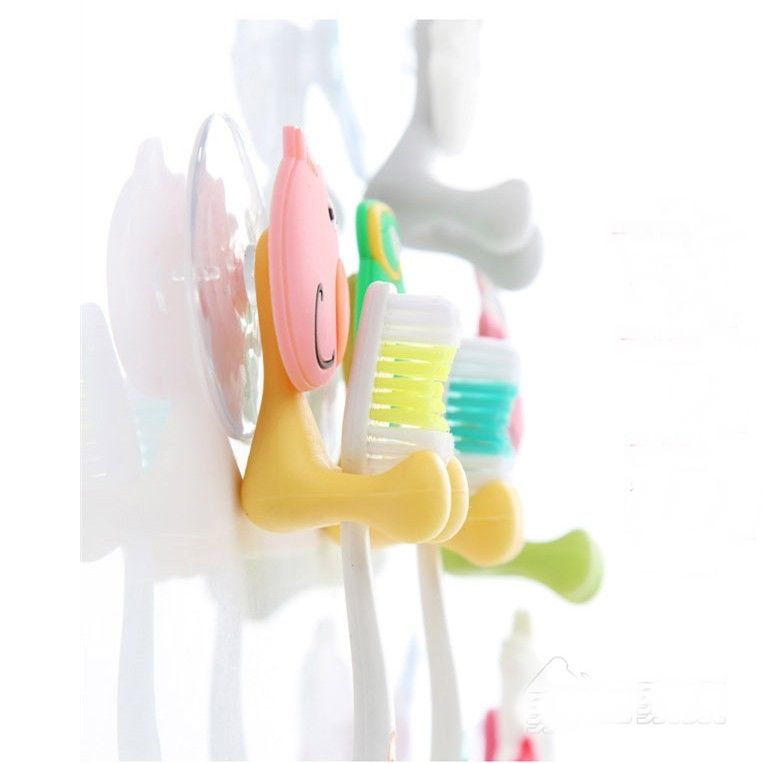Suporte para Escova de Dentes Ventosa para Parede do Banheiro