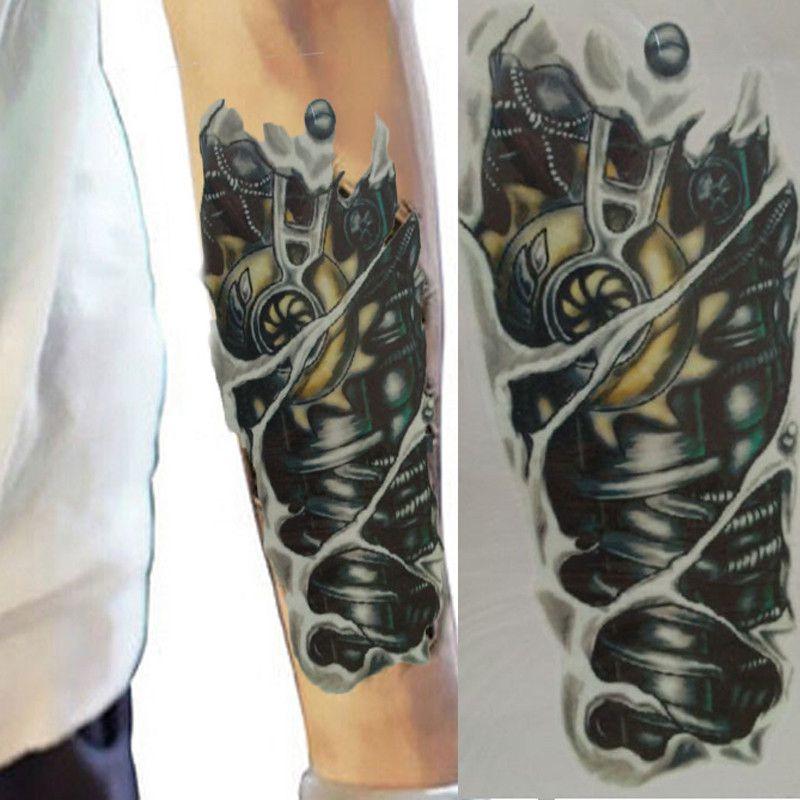 Tatuagem Temporária de Henna Estilo de Pintura corporal Homens para Braço