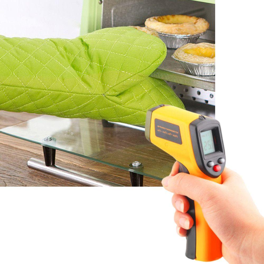 Termômetro infravermelho digital Pistola medidora de temperatura sem contato
