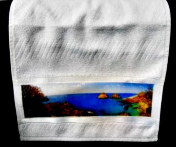 Toalha de Lavabo Aveludada Faixa Personalizada