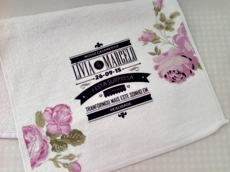 Toalha de Lavabo Branca Personalizada
