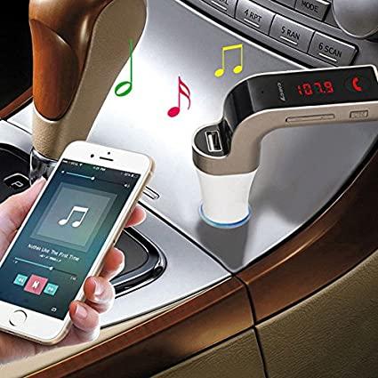 Transmissor FM Carg7 Bluetooth Carregador Veicular G7 USB Mp3 para Carro Preto