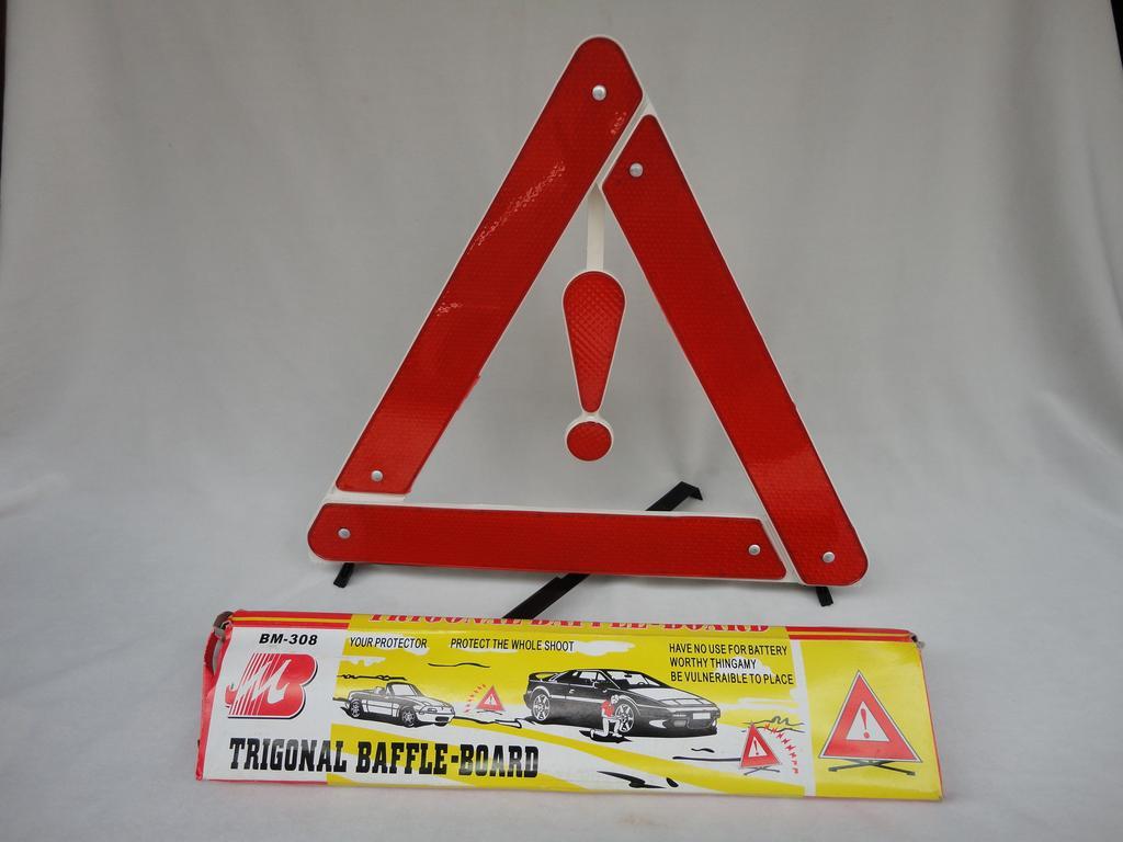 Triângulo Sinalização Advertência com pé segurança para Carro Enguiçado Emergência