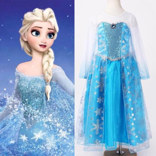 Vestido da Elsa do filme Frozen Sucesso total em festa de aniversário Fantasia Carnaval