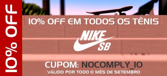 10% OFF em todos os Tênis Nike SB