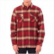 Camisa Rip Curl - Count L/S Shirt Vermelha