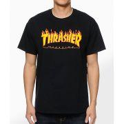 Camisa Thrasher - Flame Logo Preto