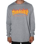 Camisa Thrasher - ML Flame Logo Mescla