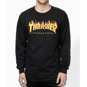 Camisa Thrasher - ML Flame Logo Preto