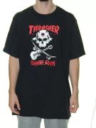 Camisa Thrasher - Skate Rock Preto