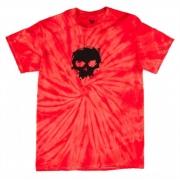 Camisa Zero - Tie Dye Red Skull Infantil
