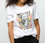 Camiseta Vans - WM Peace Kamikase White