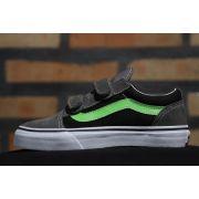 Tênis Vans - Kids Old Skool V Pewter/Green Flash