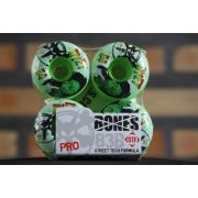 Roda Bones - STF Streettech V1 Dyet Rasta Green 54mm