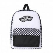 Mochila Vans - WM Realm Backpack Black-White Checkerboard
