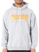 Moletom Thrasher - Capuz Flame Logo Cinza Mescla
