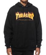 Moletom Thrasher - Capuz Flame Logo Preto