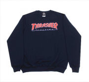 Moletom Thrasher - Careca Outlined Crewneck Azul