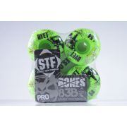Roda Bones - STF Streettech V1 Dyet Whities 54mm Green