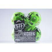Roda Bones - STF Streettech V1 Dyet Whities 54mm Green
